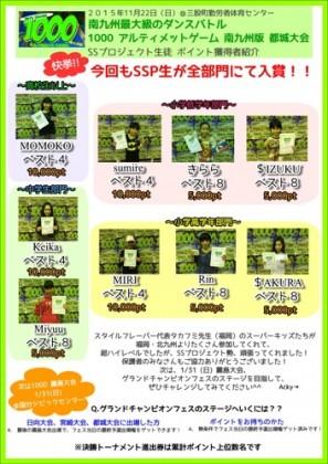 1000都城大会結果_宮崎市キッズヒップホップ専門ダンススタジオSSプロジェクト