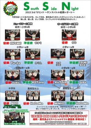 ダンスバトルSSN3rdラウンド結果_宮崎市キッズヒップホップ専門ダンススタジオSSプロジェクト